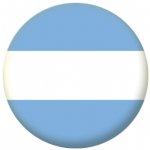 Argentina Civil Flag 58mm Button Badge